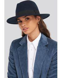 NA-KD Ribbon Fedora Hat - Blauw