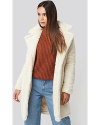 Trendyol Faux Fur Long Coat - Meerkleurig