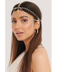 NA-KD Pearl Detailed Ornament Headpiece - Metallic
