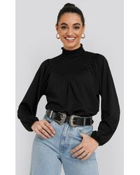 Trendyol High Neck Blouse - Zwart