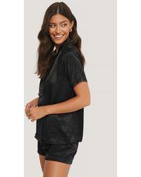 Trendyol Pyjamaset Met Losse Pasvorm - Zwart