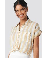 Trendyol Striped Tulum Shirt - Naturel