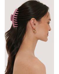 NA-KD Pink Matte Big Hairclip