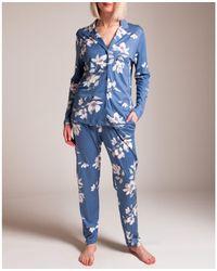 Hanro Lisha Pyjama - Blue