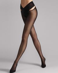 Wolford Stay Hip Tights - Black