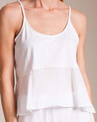 Skin Pima Cotton Voile Lara Cami - White