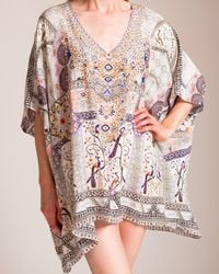 5c914a9353 Camilla Short Lace Up Caftan - Lyst