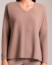 Hanro Pure Comfort Long Sleeve Top - Multicolour