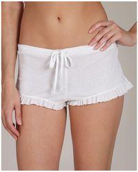 Skin 365 Pima Cotton Rib Shorty - White