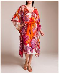 Roberto Cavalli Tropical Forest Long Tunic - Red