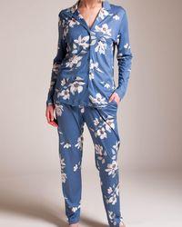 Hanro Lisha Pajama - Blue