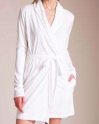 Skin 365 Superfine Short Robe - White