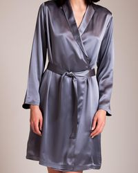 La Perla Silk Short Robe - Metallic