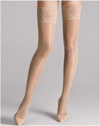Wolford Satin Touch 20 Stay-ups - Multicolour