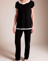 Paladini Couture Cotone Claudia Pajama - Black