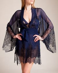 Myla - Ornamental Lace Short Robe - Lyst