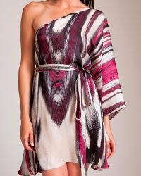 Laleh Fayaz The Butterfly Effect One Shoulder Tunic - Multicolor