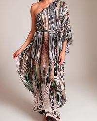 Laleh Fayaz The Butterfly Effect One Shoulder Maxi Dress - Multicolor