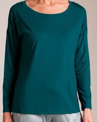 CALIDA Favorites Long Sleeve Top - Green