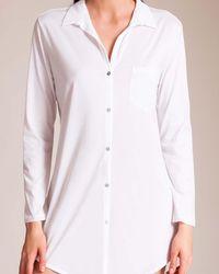 Hanro Cotton Deluxe Sleepshirt - White