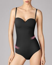 Wolford Mat De Lux Forming String Body - Black