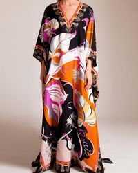 Emilio Pucci Long Silk Caftan - Multicolour