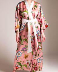 Olivia Von Halle Queenie Long Robe - Multicolor