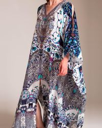 Camilla - In The Constellations Split Front And Sleeve Kaftan - Lyst