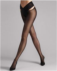 Wolford Individual 12 Stay-hip Tights - Black