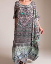 Camilla Mama's Home Round Neck Kaftan - Multicolor