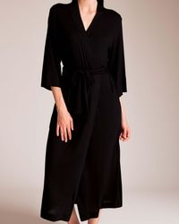 Natori Shangri La Basic Robe - Black