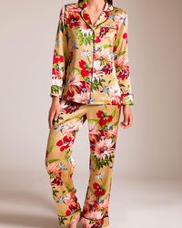 Olivia Von Halle Lila Pajama - Multicolor