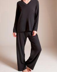 Hanro Champagne Pyjama - Black