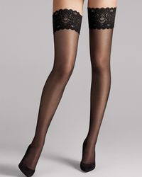 Wolford Satin Touch 20 Stay-ups - Black