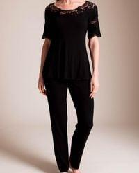 Paladini Couture Jersey Intarsio Jakie Pajama - Black