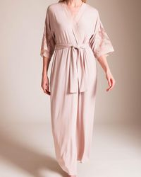 Paladini Couture Frastaglio Flavia Long Robe - Pink