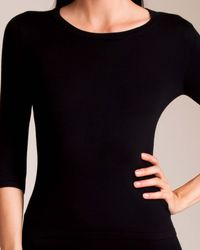 La Perla Silk Soul 3⁄4 Sleeve Shirt - Black