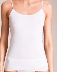 Hanro Cotton Seamless Camisole - White