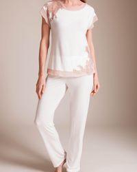 Paladini Couture Frastaglio Fiona Pajama - White