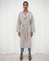 Nanushka Wool Robe Coat - Multicolour