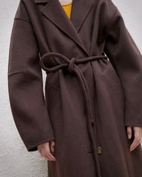Nanushka Tube Belt Maxi Coat - Brown