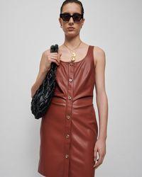 Nanushka Naiya - Vegan Leather Macramé Bag - Black