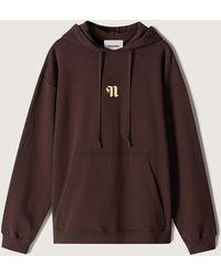 Nanushka Ever - Organic Cotton Logo Hoodie - Brown