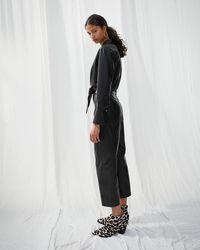 Nanushka Tie Front Jumpsuit - Black
