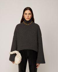 Nanushka Raw - Wool-blend Turtleneck Jumper - Grey