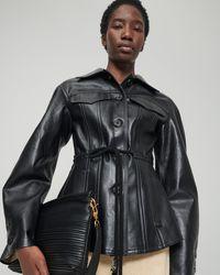 Nanushka - Tobias - Regenerated Leather Jacket - Lyst