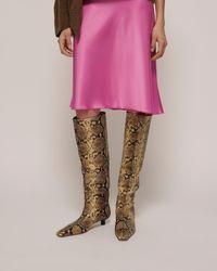 Nanushka Pippa - Knee Boots - Snake - 36 - Multicolour