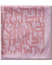 Nanushka Soleil - Medium Logo Scarf - Pink