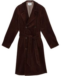Nanushka Double Breasted Trench - Brown