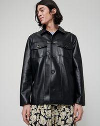 Nanushka Cody - Regenerated Leather Jacket - Black